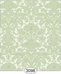 Wallpaper - Annabelle Reverse Damask Green Mint