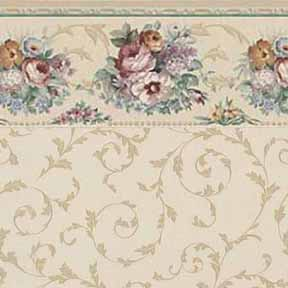 Wallpaper - Floral Scroll - Floral